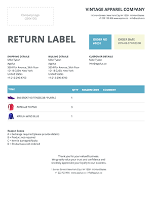Shopify - Clipper Return Form Template