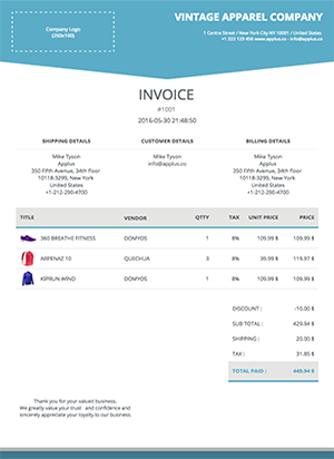 Shopify - Trigon Invoice Template