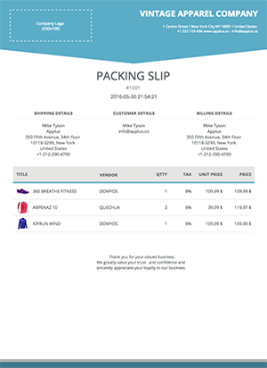 Shopify - Trigon Packing Slip Template