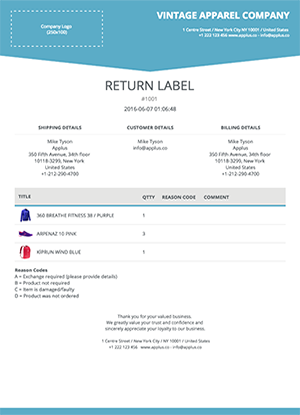 Shopify - Trigon Return Form Template